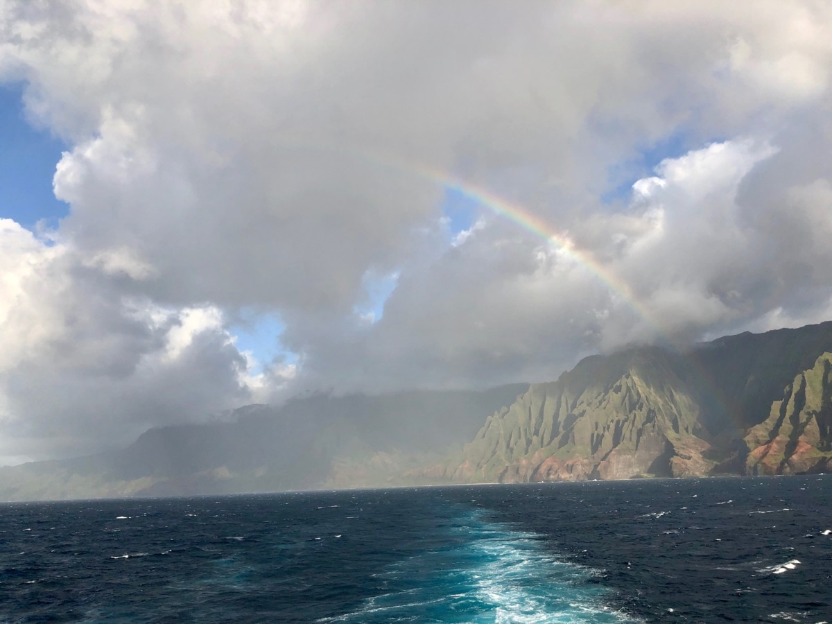 Cruising the Napali Coast on Norwegian's Pride of America.